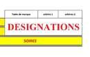 Designations du 24/25 mars